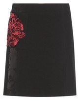 Etro Embellished wool skirt