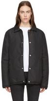 MAISON KITSUNÉ Black Padded Bertil Windbreaker Jacket