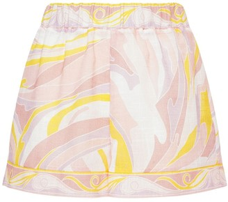 Emilio Pucci Printed Rustic Cotton Mini Shorts