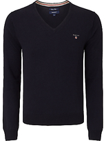 Gant Wool Cotton V-neck Jumper
