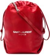Saint Laurent red Teddy bucket bag