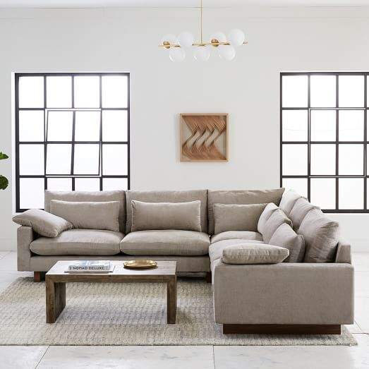 west elm Harmony Down-Filled L-Shaped Sectional