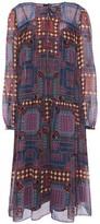 Anna Sui Printed Silk-chiffon Dress