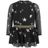 Zadig & Voltaire Zadig & VoltaireGirls Black Silk Veil Stars Dress