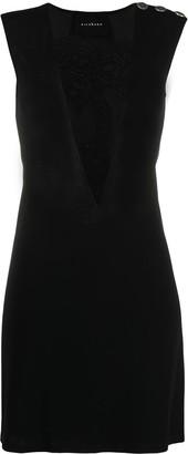 John Richmond Button-Detail Sleeveless Midi Dress