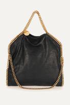 Stella McCartney The Falabella Medium Faux Brushed-leather Shoulder Bag - Black