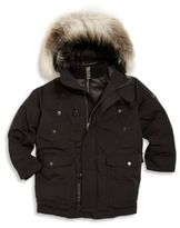 Burberry Little Boy's & Boy's Elliot Fox Fur-Trim Hooded Down Jacket