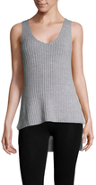 Finders Keepers Prime Time Ribbed High Low Top