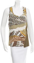 Emilio Pucci Zipper-Accented Sleeveless Top