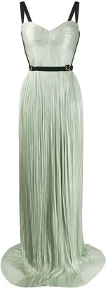 Maria Lucia Hohan Mina harness-embellished pleated gown