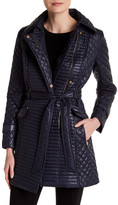 Via Spiga Zip Detail Belted Coat