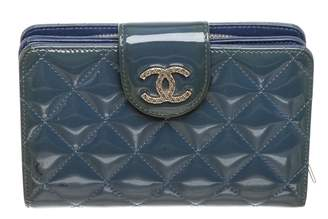 Chanel Blue Patent leather Wallets