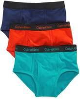 Calvin Klein Boys Solid 3 Pack Briefs (S 6/7, )