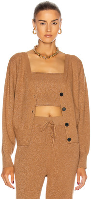 A.L.C. Peters II Cardigan in Toffee & Rose Gold | FWRD