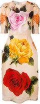 Dolce & Gabbana floral shift dress - women - Silk/Cotton/Polyamide/Spandex/Elastane - 42
