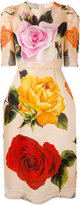 Dolce & Gabbana floral shift dress - women - Silk/Cotton/Polyamide/Spandex/Elastane - 44