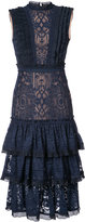 Jonathan Simkhai lace embellished ruffle dress