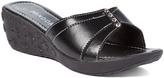 Pandora Black Slip-On Wedge Sandal