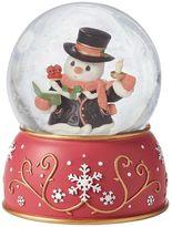 Precious Moments Caroling Snowman Musical Christmas Snow Globe