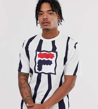 Fila Mob zig zag t-shirt in white exclusive at ASOS
