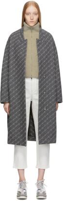 Stella McCartney Grey Wool Monogram Coat