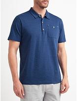 John Lewis Passenger Polka Dot Polo Shirt, Blue