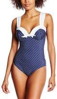 Miraclesuit Women's Dippin Dots - Cinderella Polka Dot Swimsuit,(Manufacturer Size: 44)