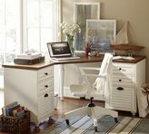 Pottery Barn Whitney Corner Desk, Almond White