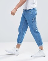 Asos Straight Cropped Workman Jeans
