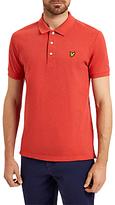 Lyle & Scott Marl Polo Shirt, Flame Red Marl