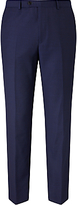 John Lewis Super 100s Wool Birdseye Tailored Suit Trousers, Blue