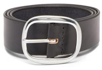 Maximum Henry - Wide-buckle Leather Belt - Mens - Black