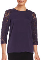 Lord & Taylor Judy Lace Steeve Blouse