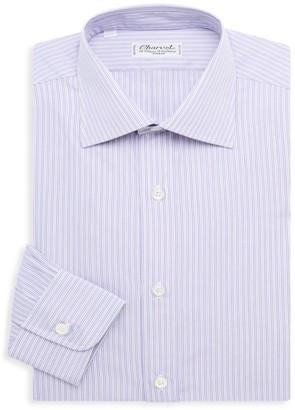 Charvet Mini-Stripe Cotton Dress Shirt