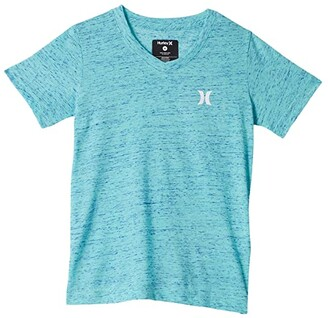 Hurley Cloud Slub Staple V-Neck Tee (Little Kids) (Tropical Twist) Boy's T Shirt