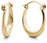 Shinola 14K Yellow Gold Small Crescent Dome Hoop Earrings