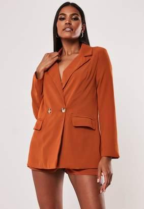 Missguided Petite Terracotta Co Ord Long Blazer