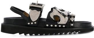 Toga Pulla Multiple Straps Slingback Sandals