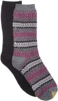 Gold Toe Women's 2-Pk. Fair Isle Ribbed Boot Socks