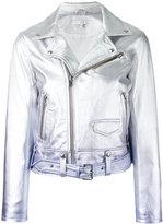 IRO ombré biker jacket - women - Lamb Skin/Rayon - 38