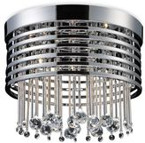 ELK Lighting Rados 5-Light Flush Mounted Ceiling Lamp in Polished Chrome