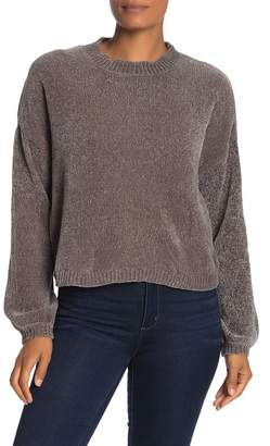 Cotton Emporium Chenille Knit Cropped Sweater