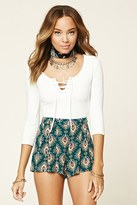 Forever 21 FOREVER 21+ Abstract Print Gauze Shorts