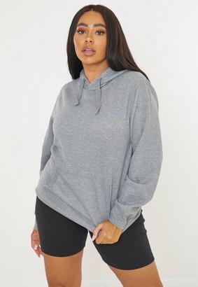 Missguided Plus Size Grey Basic Oversized Hoodie