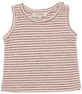 Striped Linen & Cotton Blend Jersey Top
