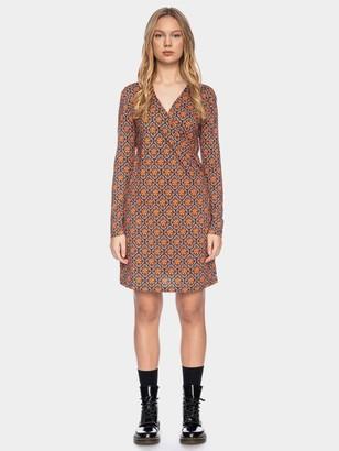 ATO Berlin - Dress Henni Cly/Co 14/063 Org/Multi - S | lyocell/ cotton/ floral retro | orange - Orange/Orange