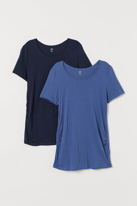H&M MAMA 2-pack cotton jersey tops