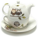 Roy Kirkham RSPB Natures Way Woodland Owl Tea for One Teapot, Cup and Saucer