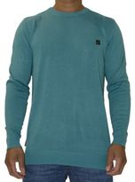 Voi Jeans New Mens Designer Crew Neck Jumper Harris Teal