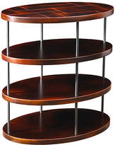 French Heritage Menlo Oval Side Table - Black Cherry